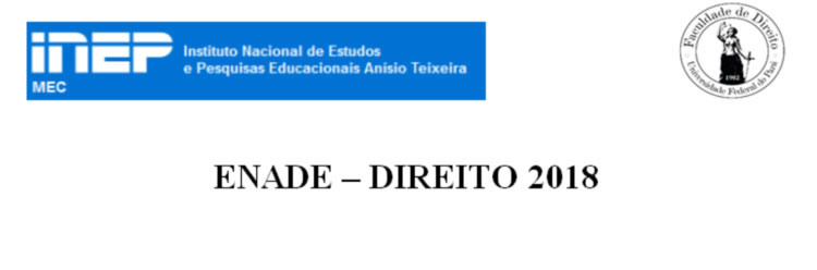 AVISO AOS CONCLUINTES E INGRESSANTES DO ENADE – DIREITO 2018